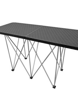 Mesa para Dj en madera con recubrimiento plástico de alto tráfico y patas de aluminio plegables