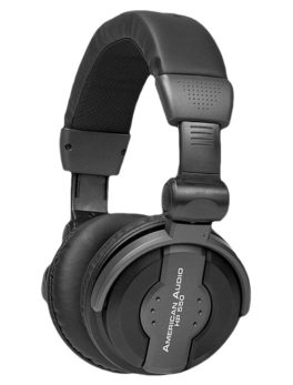 Audífonos plegables para monitoreo dj multimedia negro HP550 American Audio