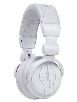 Audífonos plegables para monitoreo dj multimedia blanco HP550 SNOW American Audio