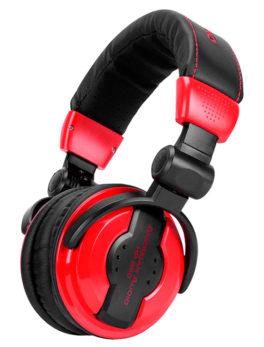 Audífonos plegables para monitoreo dj multimedia rojos HP550 LAVA American Audio