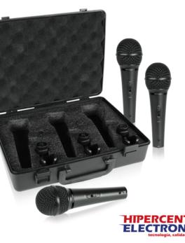 Kit de 3 micrófonos para voz o instrumentos con patrón polar cardioide Behringer XM1800S