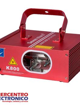 Luz láser audioritmica de colores rojo y verde K800 Big Dipper