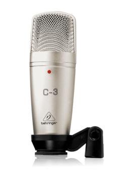 micrófono alámbrico de condensador para aplicaciones en estudio o en vivo C-3 Behringer