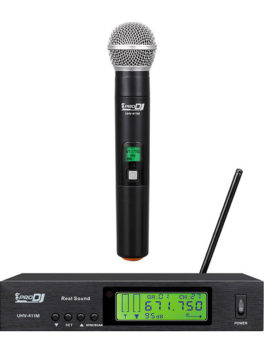 micrófono inalámbrico de mano dinámico cardioide UHV-411M Pro Dj
