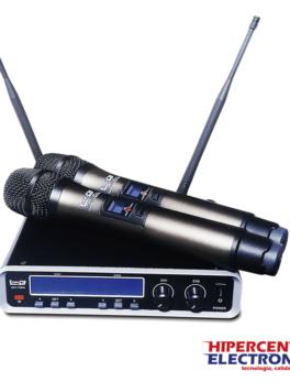 Microfono inalambrico doble de mano multiproposito UHF22M