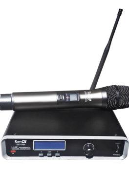 micrófono inalámbrico de mano dinámico cardioide UHV-711M Pro Dj