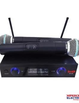 Micrófono inalámbrico doble de mano vocal especial para discurso, escenario, canto