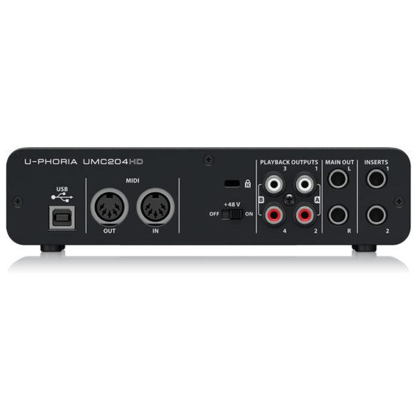 Hipercentro Electronico interfaz grabacion estudio produccion home UMC204HD Behringer