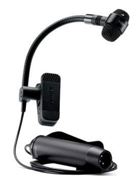 Hipercentro Electronico micrófono alámbrico para instrumentos de viento profesional SHURE PGA98H-XLR