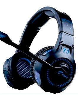Audífonos de diadema con micrófono gamer JyR 033-MV