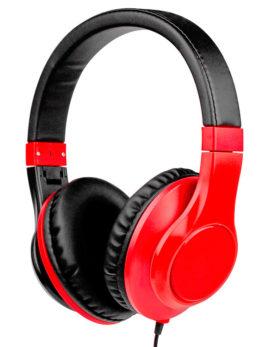 Hipercentro Electronico audifonos diadema dj monitoreo multimedia rojo HP2R Pro Dj