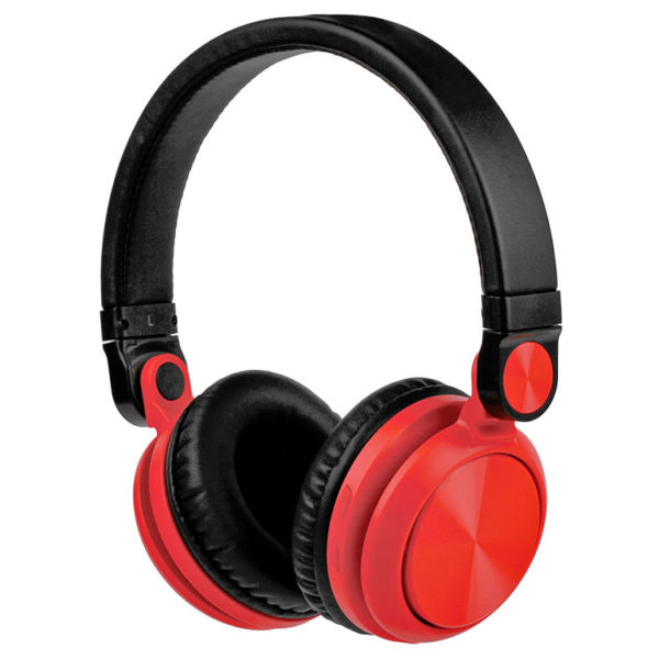 Hipercentro Electronico audifonos diadema dj monitoreo multimedia rojo bluetooth HP10R-BT Pro Dj
