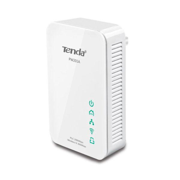 Hipercentro Electronico extensor de rango WiFi por linea eléctrica inalámbrico TENDA TE-PW201A