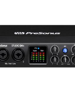 Hipercentro Electronico interfaz para estudio de grabación de calidad profesional PRESONUS STUDIO24C