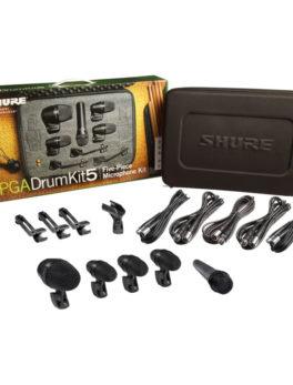 Hipercentro Electrónico kit de micrófonos para batería profesional instrumentos conciertos escenarios SHURE PGADRUMKIT5