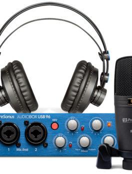 Hipercentro Electronico combo para grabación profesional PreSonus AUDIOBOX 96 STUDIO