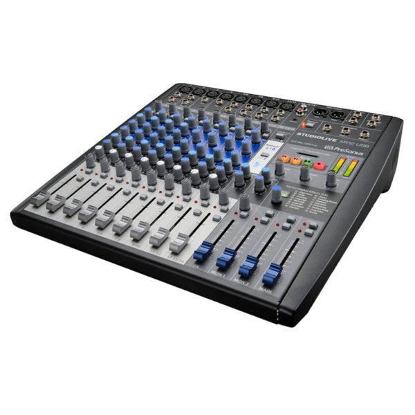 Hipercentro Electronico mezclador consola analogo grabacion digital 14 canales STUDIOLIVE AR12 USB PreSonus