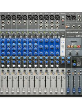 Hipercentro Electronico mezclador consola analogo grabacion digital 18 canales STUDIOLIVE AR16 USB PreSonus