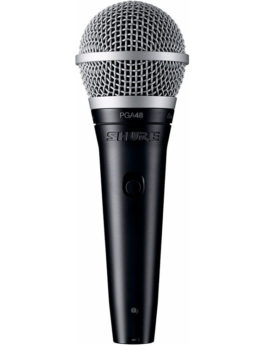 Hipercentro Electronico micrófono alámbrico profesional de mano cardioide SHURE PGA48/XLR