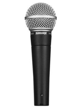 Hipercentro Electronico microfono alambrico vocal dinamico vivo live SM58-LC Shure