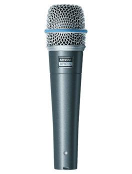 Hipercentro Electronico micrófono supercardioide dinámico profesional para instrumentos SHURE BETA27A