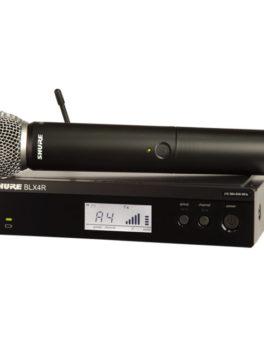 Hipercentro Electronico microfono inalámbrico de mano profesional SHURE BLX24R/SM58