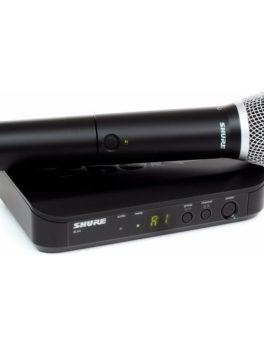 Hipercentro Electronico microfono sistema inalambrico de mano profesional SHURE BLX24/SM58