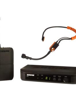 Hipercentro Electronico micrófono inalámbrico de diadema profesional para instructor de gym SHURE BLX14SM31-K12
