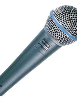 Hipercentro Electronico Micrófono alámbrico profesional supercardioide dinámico SHURE BETA58A