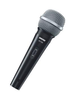 Hipercentro Electronico microfono cardioide alambrico SHURE SV100 Profesional