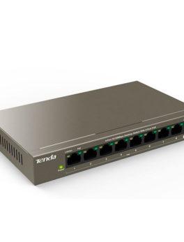 Hipercentro Electronico switch de 8/9 puertos alta calidad de conexión TENDA TEF1109P-8-63W