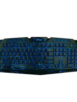Hipercentro Electronico teclado gamer moderno con leds azules JYR TGJR-001