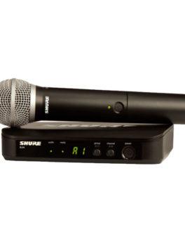Hipercentro Electronico microfono inalambrico profesional para escenarios SHURE BLX24/PG58-M15