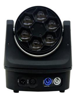 Hipercentro Electronico cabeza móvil robótica con luz led RGB PROLIGTH LM60