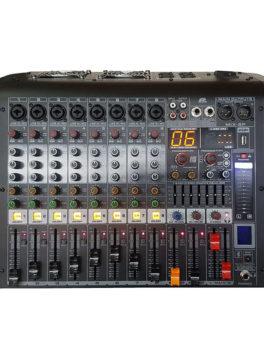 Hipercentro Electronico consola activa análoga de 8 canales con usb y bluetooth PROAUDIO MIX-P