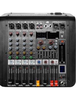 Hipercentro Electronico consola análoga pasiva de 4 canales con, USB, bluetooth PROAUDIO MIX-4