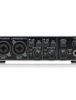 Hipercentro Electronico interfaz tarjeta grabacion profresional usb UMC202HD Behringer