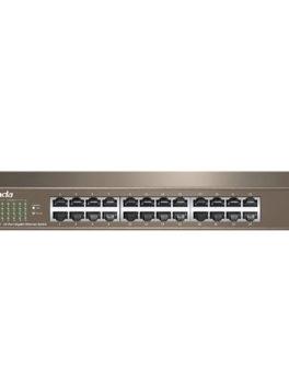 Hipercentro Electronico switch de 24 puertos para señal de internet alta eficiencia TENDA TE-TEG1024D