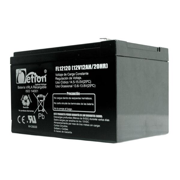 Hipercentro Electronico batería seca libre de mantenimiento NETION 12V 12AH