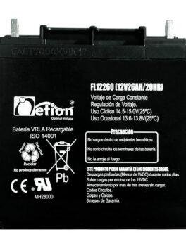 Hipercentro Electronico batería seca libre de mantenimiento NETION 12V 26AH