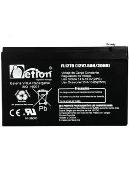 Hipercentro Electronico batería seca libre de mantenimiento NETION 12V 7.5AH
