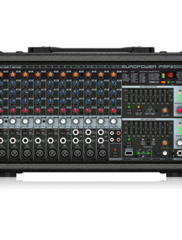 Hipercentro Electronico consola amplificada de 9 canales con conexion usb profesional BEHRINGER PMP 2000D