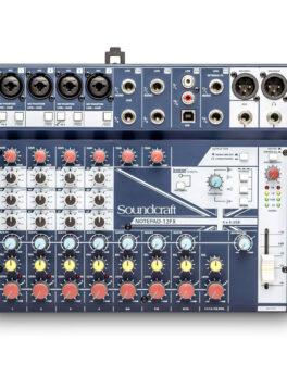 Hipercentro Electronico consola análoga de 12 canales SOUNDCRAFT NOTEPAD12FX
