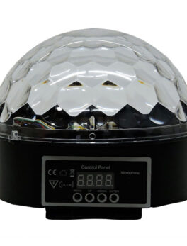 Hipercentro Electronico esfera o bola de luces RGB llenadora audioritmica PROLIGTH L001