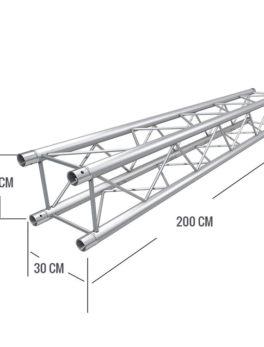 Hipercentro Electronico tamo de estructura truss para escenarios, conciertos, eventos COSMIC TRUSS F32400