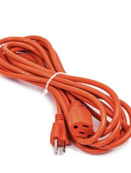 Hipercentro Electronico extensión de corriente encauchetada color naranja de 1 hasta 20 mts