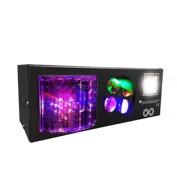 Hipercentro Electronico luz ritmica multi-funcion 4 en 1 PRODJ PL41 PARTY