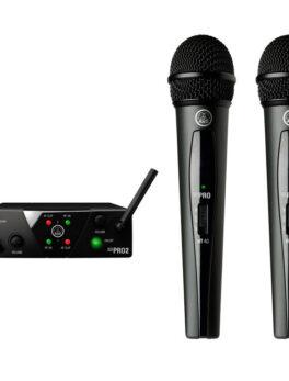 Hipercentro Electronico micrófono inalámbrico de mano doble AKG WMS40MINI DUAL