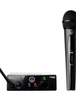 Hipercentro Electronico micrófono inalámbrico de mano profesional AKG WMS40MINI