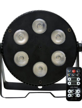 Hipercentro Electronico reflector par led con 6 leds 6 en 1 con UV PROLIGHT PL036R